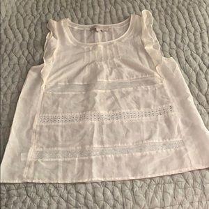 LOFT white blouse EUC